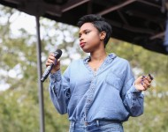 Jennifer Hudson performs at the Stand for School Equality Rally at Cadman Plaza Park on October 7, 2015 in New York City