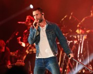 Recording artist Adam Levine of Maroon 5 performs onstage during CBS RADIOs third annual We Can Survive