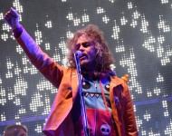 Wayne Coyne of The Flaming Lips performs on the SoundHarvest Main Stage during the Sound Harvest Music Festival