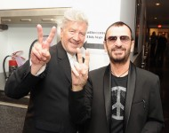 Filmmaker David Lynch and Iconic Rock Star Ringo Starr attend John Varvatos and Ringo Starr's announcement of their special collaboration on occasion of Ringo's birthday at Capitol Records Building on July 7, 2014 in Los Angeles, California.