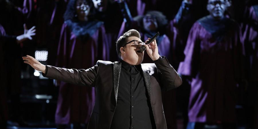 Jordan Smith performs on 'The Voice' live semis