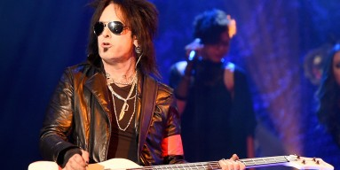 Bassist Nikki Sixx of Sixx:A.M. performs at The Joint inside the Hard Rock Hotel & Casino