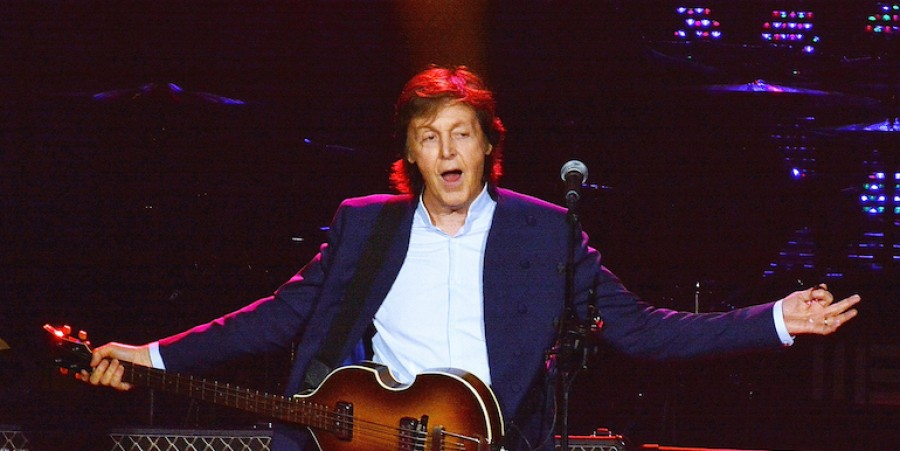 Sir Paul McCartney performs live on stage at The O2 Arena on May 23, 2015 in London, England.