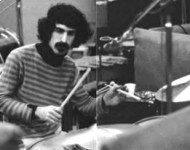 Frank Zappa playing drums