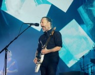 Thom Yorke of Radiohead performs live on stage at Sydney Entertainment Centre