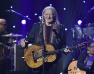 Willie Nelson performs on stage during the Imagine: John Lennon 75th Birthday Concert at The Theater at Madison Square Garden on December 5, 2015 in New York City. (
