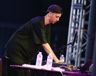 Shlohmo performs onstage during day 1 of the 2014 Coachella Valley Music & Arts Festival