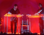 ODESZA perform onstage during day 3 of the 2015 Coachella Valley Music & Arts Festival