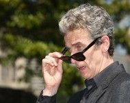 Dr Who's Peter Capaldi poses durnig a media call at Mrs Macquarie's Chair on November 20, 2015 in Sydney, Australia.