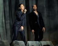 Rihanna Kanye West At the 57th Grammys
