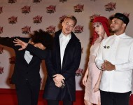 lionnaire, Diplo and Walshy Fire from Major Lazer, MO attends the 17th NRJ Music Awards on November 7, 2015 in Cannes, France.