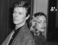 David Bowie with American-born actress Sydne Rome
