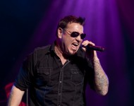Steve Harwell of Smash Mouth performs at the 2nd annual Grand Slam Charity Jam at the Potawatomi Bingo Casino on March 10, 2012 in Milwaukee, Wisconsin.