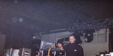 Screen Still of Boards of Canada Performing Live at Warp Party