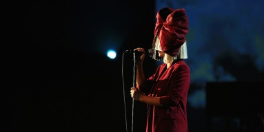 Sia performs at The Shrine Auditorium on November 18, 2015 in Los Angeles, California