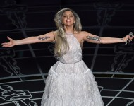 Lady Gaga performs onstage during the 87th Annual Academy Awards