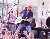 Jason Aldean performs on NBC's 'Today' at Rockefeller Plaza on July 31, 2015