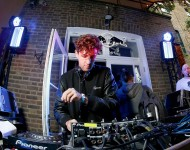 Jamie XX DJs during the Red Bull Carnival Party in Notting Hill on August 31, 2015