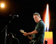Recording artist Bruce Springsteen performs onstage at A+E Networks 'Shining A Light' concert at The Shrine Auditorium on November 18, 2015 in Los Angeles, California.