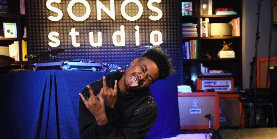 Danny Brown poses onstage before An Evening With Danny Brown Presented By Sonos And Pandora on October 2, 2014 in New York City.