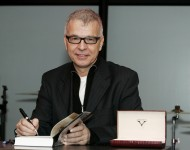 Record producer Tony Visconti attends a signing session for his book 'Tony Visconti : The Autobiography' at Harrods
