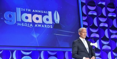 Anderson Cooper speaks on stage at the 26th Annual GLAAD Media Awards In New York on May 9, 2015 in New York City.