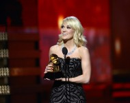 Carrie Underwood accepts Best Country Solo Performance at the 55th Annual GRAMMY Awards