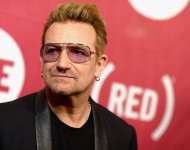 Co-Founder of ONE and (RED) singer Bono attends the ONE Campaign and (RED)'s concert to mark World AIDS Day, celebrate the incredible progress that's been made in the fights against extreme poverty and HIV/AIDS, and to honor the extraordinary leaders, ded