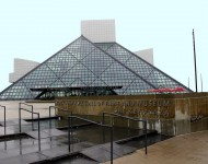The Rock & Roll Hall of Fame is seen March 30, 2004 in Cleveland, Ohio.