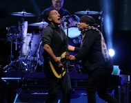 Bruce Springsteen performs live on stange with the E Street Band on March 1, 2014 in Auckland, New Zealand.