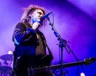 Robert Smith from The Cure performs at Eurockeennes Music Festival on June 30, 2012