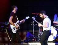 Musicians Jimmy Smith and Yannis Philippakis of Foals