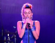 Miley Cyrus performs onstage during Hilarity for Charity's annual variety show