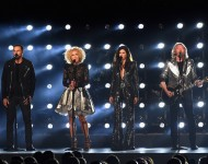 Little Big Town perform onstage at the 49th annual CMA Awards at the Bridgestone Arena on November 4, 2015 in Nashville.