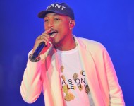 Pharrell performs following the 2015 Pepsi Rookie of the Year Award Ceremony