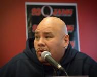 Rapper Fat Joe speaks at the 92Q Music & Entertainment Seminar at the BCCC Fine Arts Building