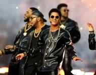 Bruno Mars performs during the Pepsi Super Bowl 50 Halftime Show at Levi's Stadium on Feb. 7, 2016 in Santa Clara, California.