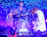 The Red Hot Chili Peppers at Pier 70 on February 6, 2016 in San Francisco, California.