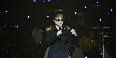 Yoko Ono performs on stage during the Imagine: John Lennon 75th Birthday Concert at The Theater at Madison Square Garden