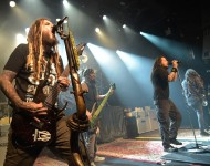 Korn perform during The Korn 20th Anniversary Tour at Irving Plaza