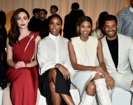 Emmy Rossum, Kelly Rowland, Ciara, and Russell Wilson