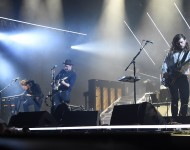f Mumford & Sons performs on the 'What' stage during the 2015 Bonnaroo Music & Arts Festival