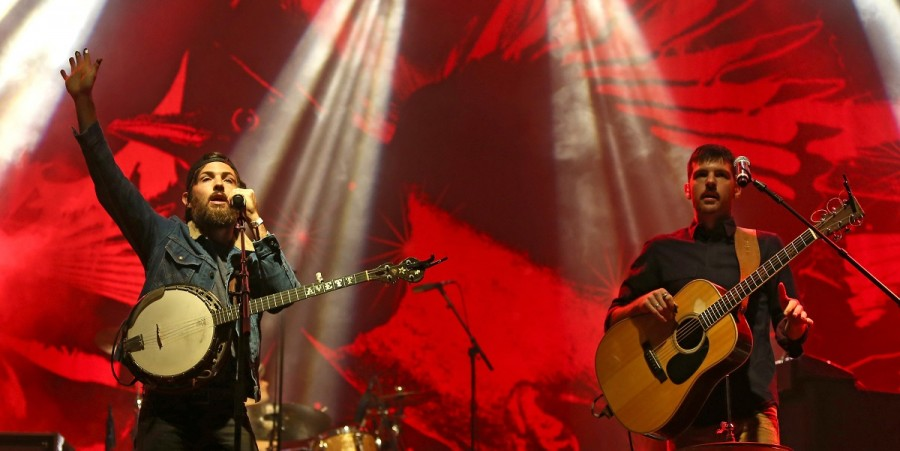 Avett Brothers perform onstage during day one of the Boston Calling Music Festival 2015