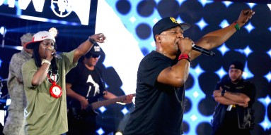 Rappers Flavor Flav and Chuck D of Public Enemy perform onstage at Samsung Galaxy Life Fest at SXSW 2016