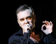 Morrissey performs at the V Festival In Hylands Park on August 20, 2006 in Chelmsford, England.