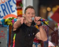 Chris Martin of Coldplay performs on NBC's 'Today' at Rockefeller Plaza