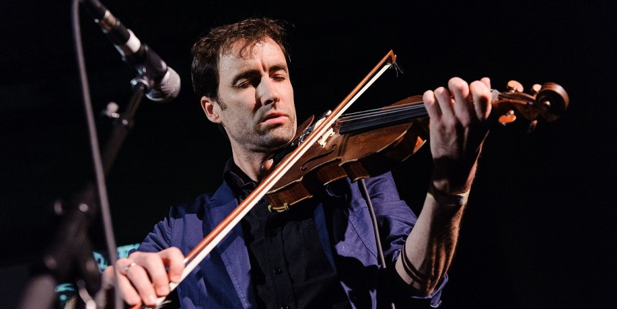 Musician Andrew Bird performs live at 'A Night Of Improvised Round Robin Duets' during the 2013 Red Bull Music Academy at Brooklyn Masonic Temple on May 1, 2013 in the Brooklyn borough of New York City.