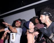 Metro Boomin, YesJulz, and DJ Esco at La Vie Nightclub on February 12, 2016 in Toronto, Canada
