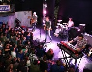Tokyo Police Club performs at the Feed The Beat Presents Tokyo Police Club With Special Guest The Kickback Powered By Pandora on October 14, 2015 in New York City.