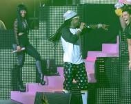 (L-R) Nicki Minaj, Lil Wayne and Drake